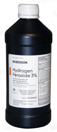 McKesson- 3% Hydrogen Peroxide 16oz