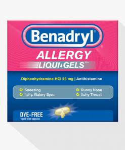 BENADRYL® Allergy Dye-Free LIQUI-GELS®