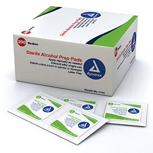 dynarex-Sterile Alcohol Prep Pads